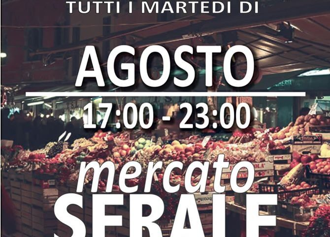 Fisciano – dal 4 agosto e tutti i martedì dalle 17.00 alle 23.00 apre il mercato serale