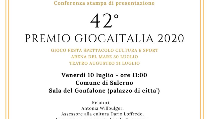 """""""GiocaItalia"""", venerdì la presentazione presso il Comune di Salerno"""