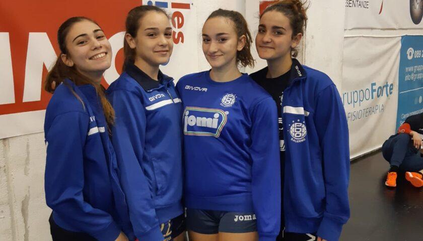 Fiocco azzurro in casa Jomi Salerno: Sammartino, Rossomando, De Ciuceis ed Avagliano con l'Italia Under 16 di Beach Handball