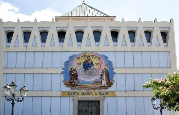 Chiesa di Santa Maria a Mare. Avvio dei lavori con il Sindaco Napoli ed il Governatore De Luca