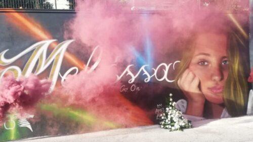 A San Mango Piemonte scoperto il murales dedicato a Melissa, la 16enne scomparsa mentre era a scuola nove mesi fa