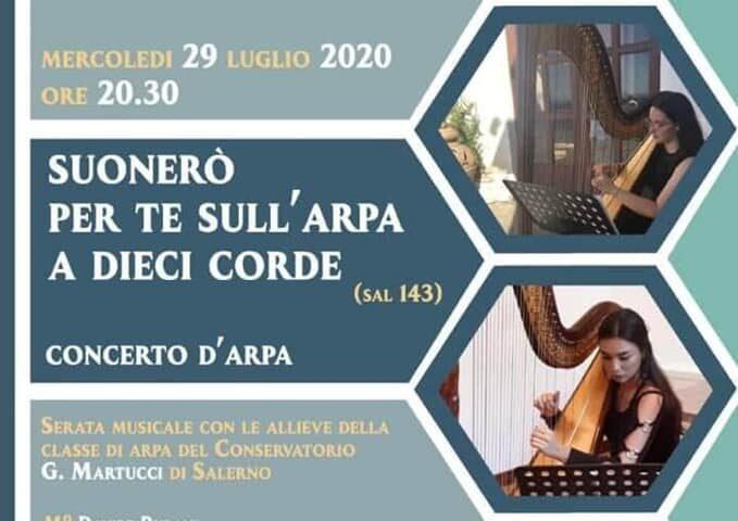 Mercoledi prossimo concerto d'arpa nella chiesa San Clemente di Pellezzano