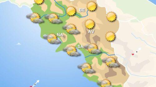 Meteo fine settimana in Campania, sole in gran parte della regione con piogge nelle zone interne