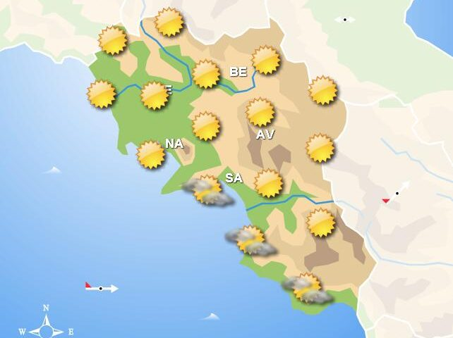 Meteo in Campania, sole e tempo stabile su tutta la regione. Temperature in aumento