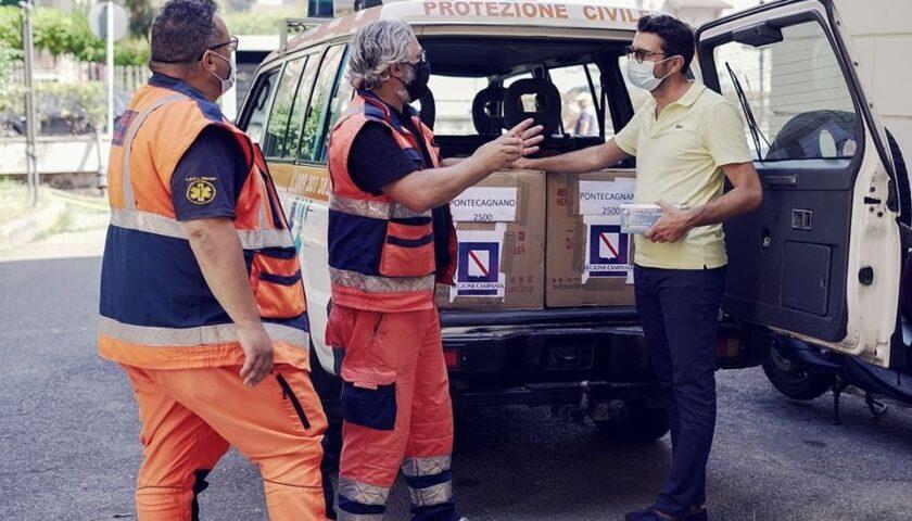 Il Comune di Pontecagnano regala 10mila mascherine per Ferragosto