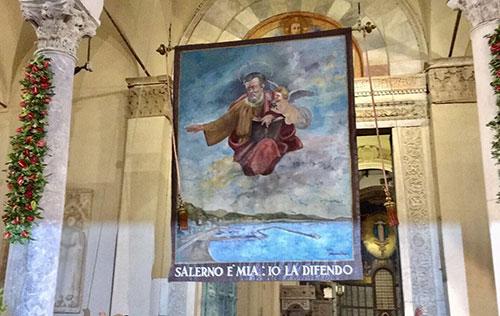 Domani l'Alzata del Panno di San Matteo nell'Atrio della Cattedrale di Salerno
