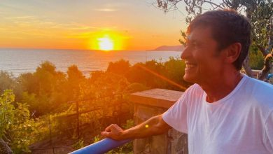 """Gianni Morandi si gode Acciaroli: """"Fantastico tramonto cilentano"""""""