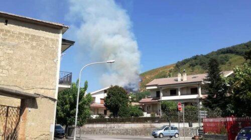 """Incendio a Mercato San Severino, le """"Sentinelle"""" allertano i vigili del fuoco"""