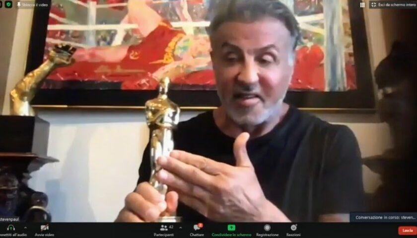 """La promessa di Sylvester Stallone al Giffoni: """"Il prossimo anno sarò con voi"""""""
