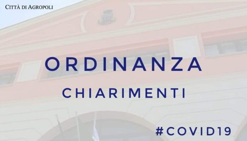 Agropoli – il sindaco Coppola chiarisce alcuni punti sull'ordinanza n° 20921