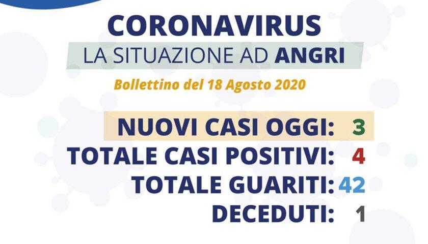 Angri – tre nuovi casi di contagio da coronavirus