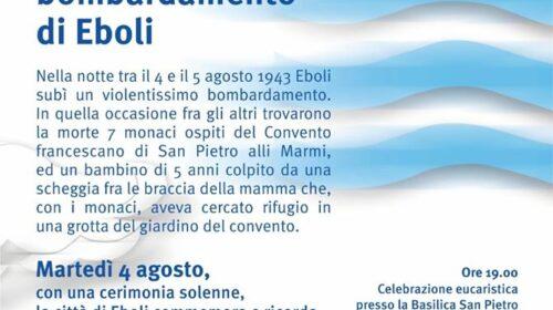 Questa sera ci sarà una cerimonia in ricordo del bombardamento del 1943 su Eboli