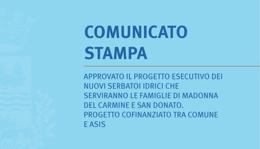 Eboli – approvato il progetto esecutivo dei nuovi serbatoi idrici a Madonna del Carmine e San Donato