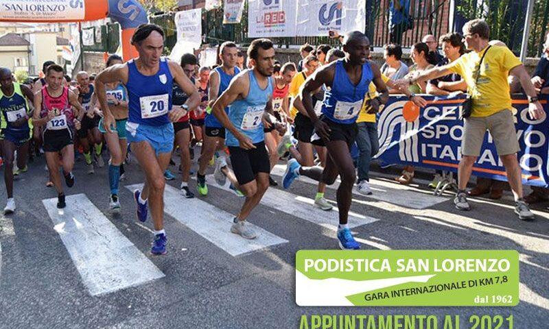 Emergenza covid 19, a Cava de' Tirreni rinviata a settembre del prossimo anno la Podistica San Lorenzo