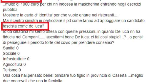 """Regione, frase choc contro De Luca: """"Come Hitler, come fanno a votare un fascista come lui"""""""