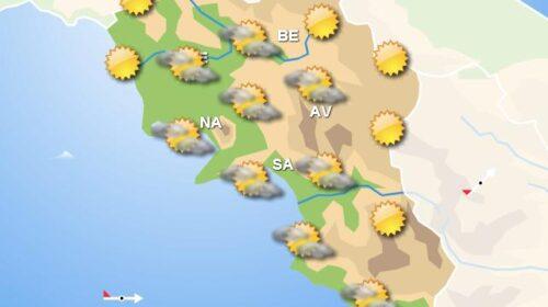 Meteo domani, in Campania nuvolosità irregolare con piogge solo nei settori interni