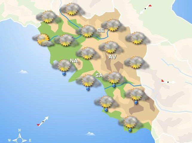 Meteo domani in Campania, piogge sulla costa. Temporali nel pomeriggio nelle zone interne