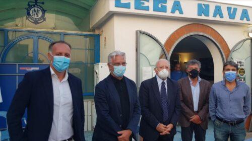 Apertura dei Campionati Italiani Giovanili di vela,  presenti il governatore De Luca e il sindaco Napoli