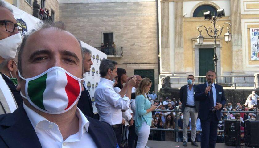"""Meloni da Cava de' Tirreni accusa De Luca: """"In Campania la spesa per ogni contagio è di gran lunga superiore ad altre regioni"""""""