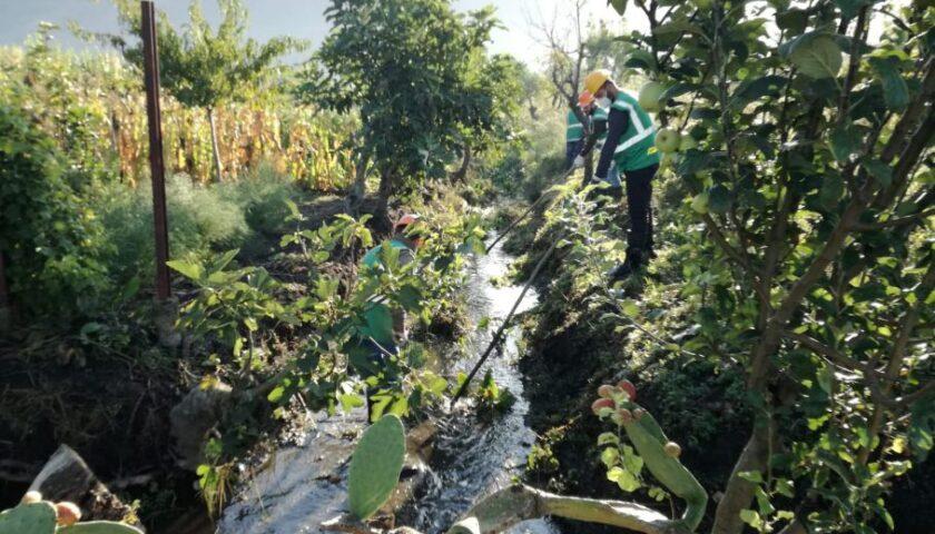 Maltempo a Nocera Inferiore, il consorzio di Bonifica al lavoro sul canale Rio Pennacchio