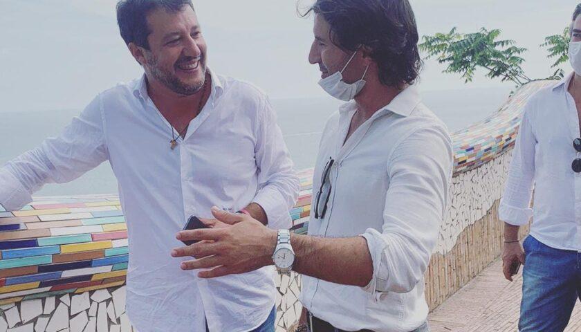 Dante Santoro incontra Salvini a Vietri sul Mare