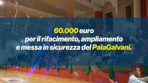 Angri – 60.000€ per finanziare il progetto di ampliamento del Pala Galvani