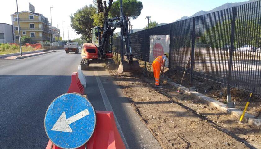 Baronissi – iniziati lavori di riqualificazione urbana ad Acquamela