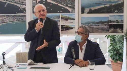 """Salerno, De Luca: """"Stiamo realizzando il progetto voluto da Bohigas, ripartiamo con il ripascimento"""""""