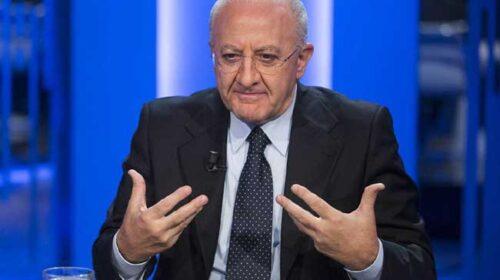 """De Luca: """"Vaccino secondo il Pil? Barbarie della Moratti"""""""