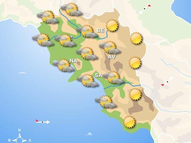 Meteo domani in Campania, sole e poca nuvolosità con isolate piogge nelle zone interne