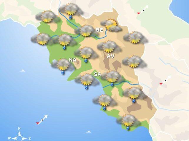 Meteo domani, in Campania piogge sparse ma in serata si attende il miglioramento