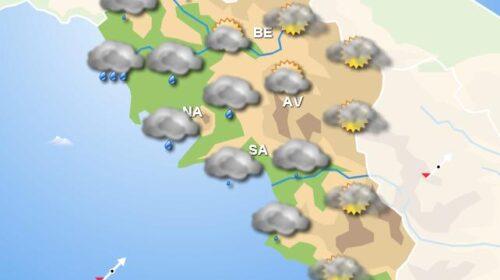 Meteo Campania, domani piogge diffuse su tutta la regione