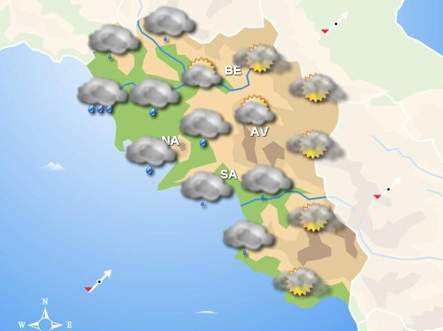 Meteo per domani, in Campania tempo instabile con piogge