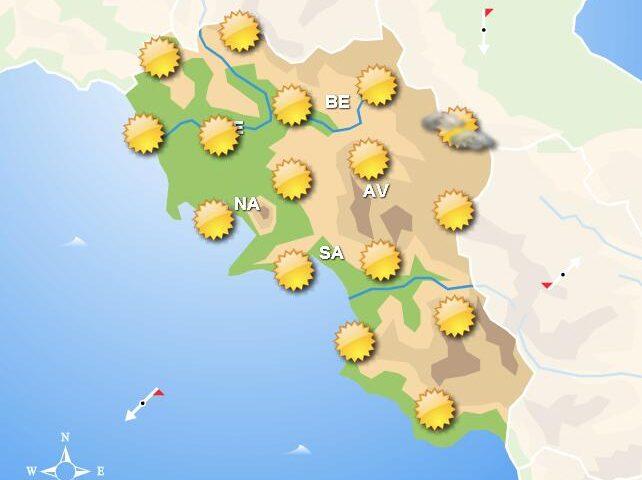 Meteo per domani, in Campania cielo sereno sulla costa e nelle zone interne