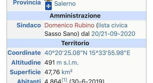 Sassano, a urna aperte modificano la pagina di Wikipedia annunciando il nuovo sindaco: c'è la denuncia