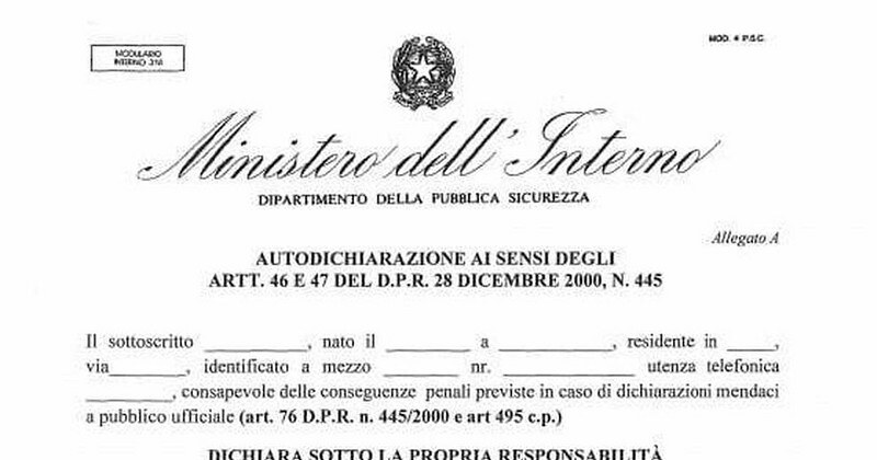Spostamenti tra regioni, certificazione unica tra Lazio e Campania