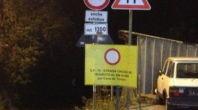 """SP75 """"Avvocatella"""", a tre mesi esatti ancora chiusa: i cittadini pronti a manifestazioni di massa"""