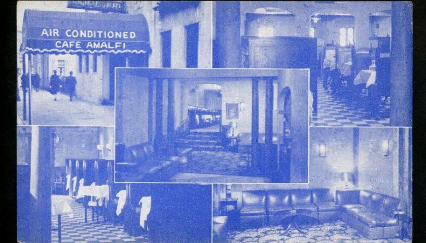"""Diograzio Consolmagno grande ristoratore con il suo """"Cafe Amalfi"""" di Boston in Massachusetts. Era nato ad Aquara nel 1885"""