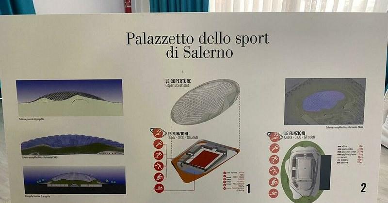 Salerno, pubblicato il bando per la progettazione ed esecuzione del Palazzetto dello Sport