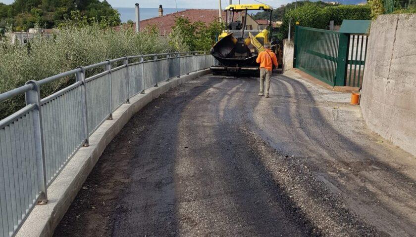 Salerno, ultimati dal Comune i lavori della strada a Giovi