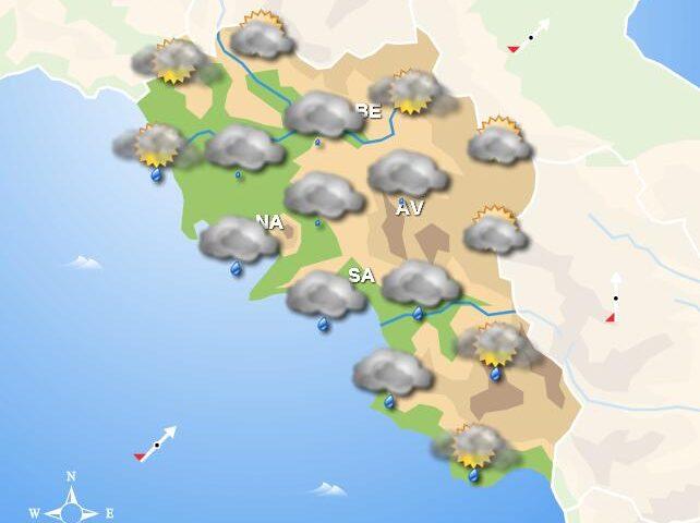 Meteo nel fine settimana, in Campania nuvoloso e pioggia