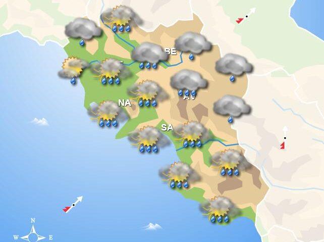 Meteo domani, in Campania tempo instabile e temporali su tutta la regione