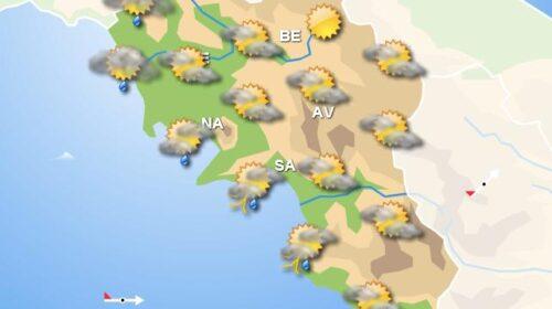 Meteo domani, in Campania nubi sulla costa e sole sul resto della regione