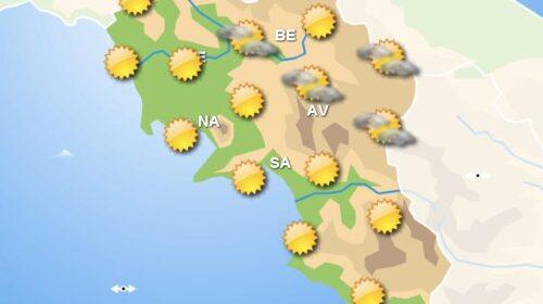 Meteo domani, in Campania piogge nel nord e a est della regione