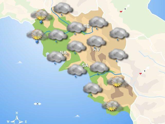 Meteo fine settimana, in Campania piogge domani e domenica mattina