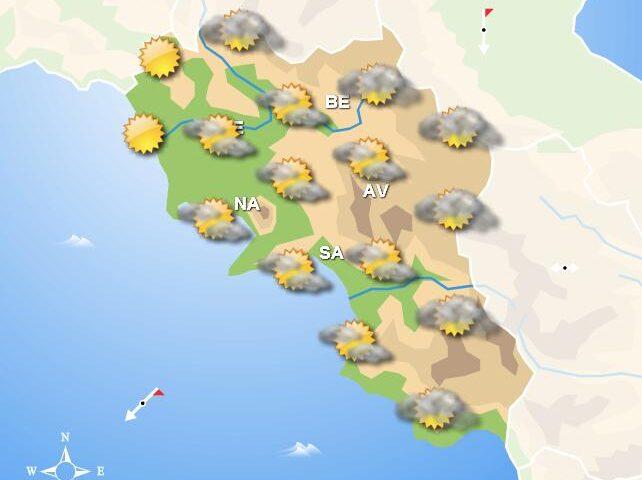 Meteo domani, in Campania sereno in mattinata, piogge nel pomeriggio e serata in alcune zone