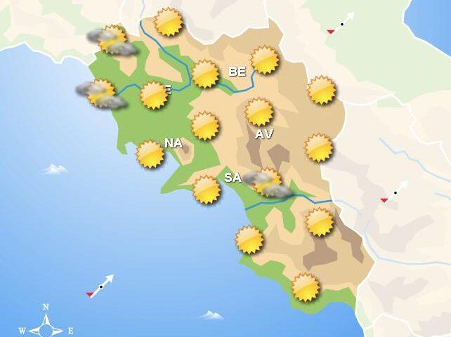 Meteo domani, in Campania cielo sereno con piogge in serata sulla cosa