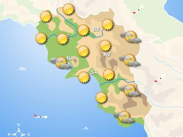 Meteo domani, in Campania giornata di bel tempo