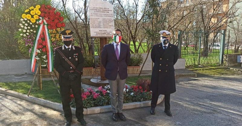 A Fisciano un monumento nel ricordo delle vittime del sisma del 1980