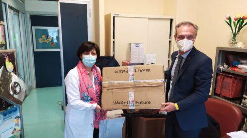 L'Anc Salerno dona dispositivi di protezione individuale al reparto di Neonatologia del Ruggi di Salerno